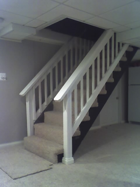 basement stair handrails quotes